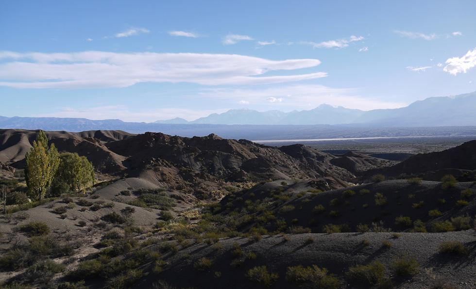 Вид на Анды со стороны парка