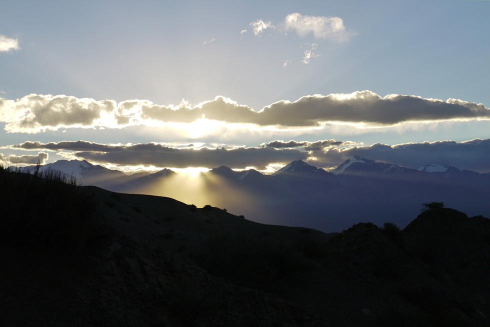 Закат в Анды