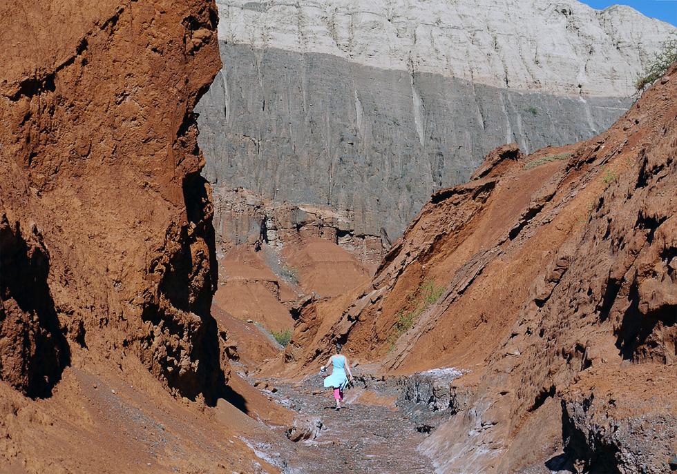 Пешеход в каньоне