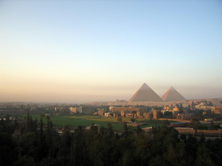 Каир. Вид из гостиницы в пять часов утра