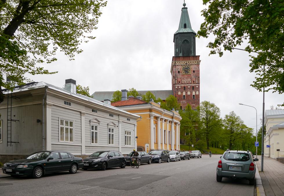 Улица рядом с кафедральным собором Турку