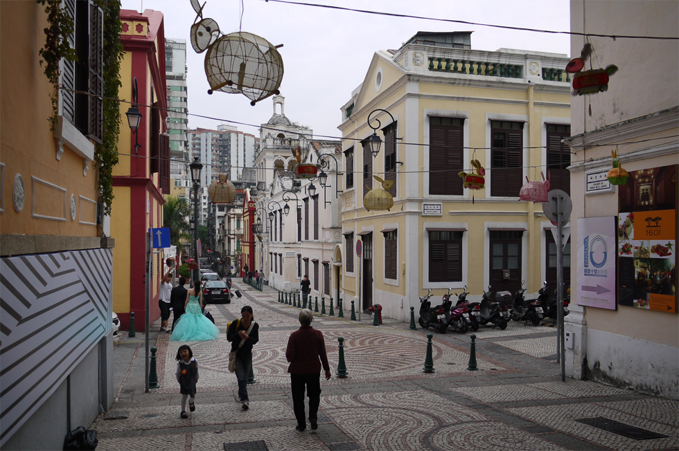 Старые улочки в Макао