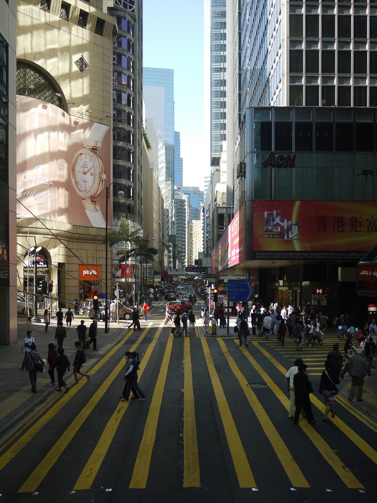 Узкая улица в Гонконге