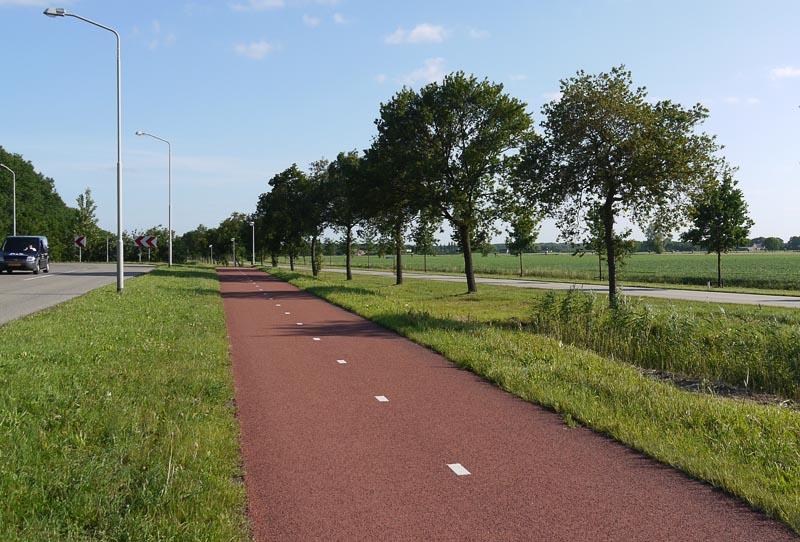 Двусторонняя велодорожка в Голландии.