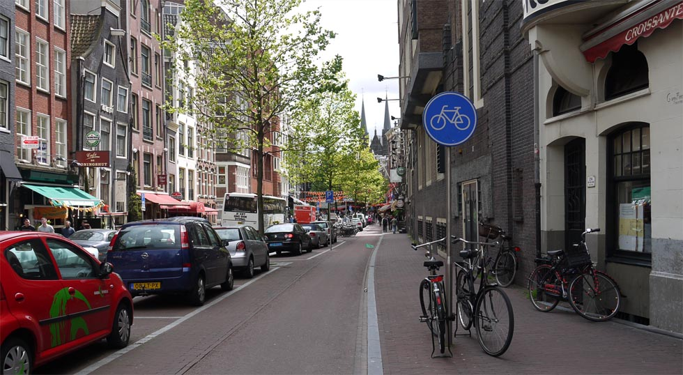 Велодорожка в городе.