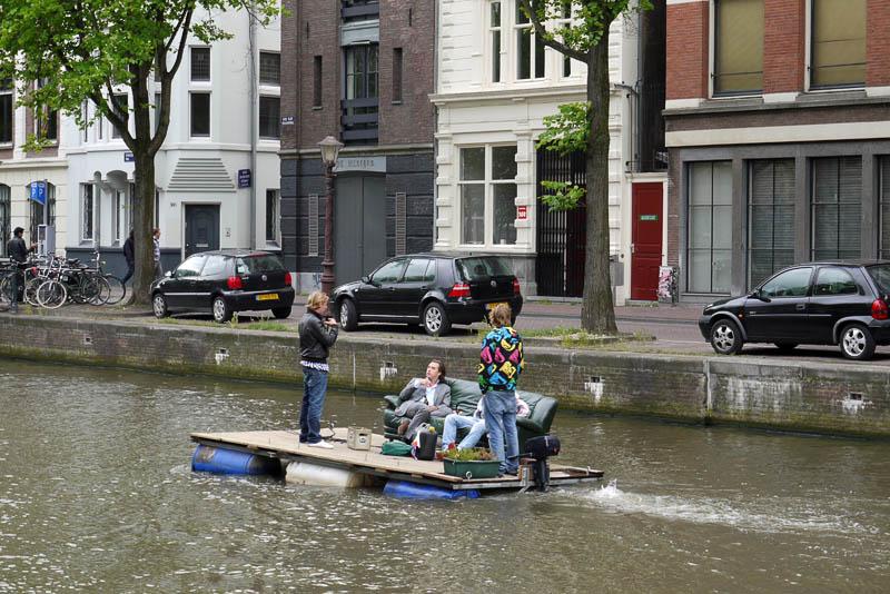 Плот в Амстердаме.