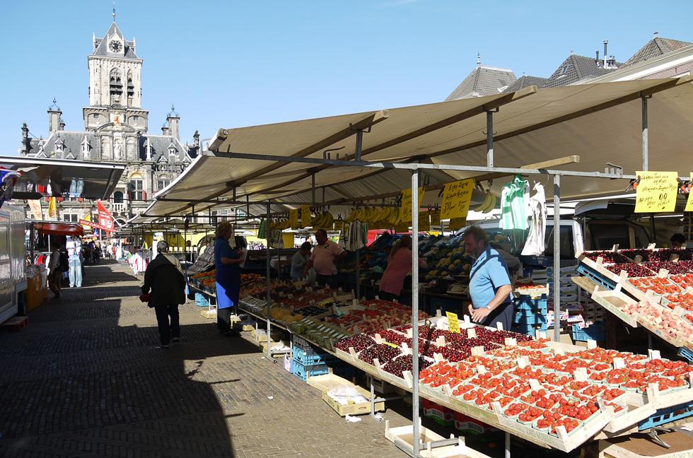 Дельфт, рынок.