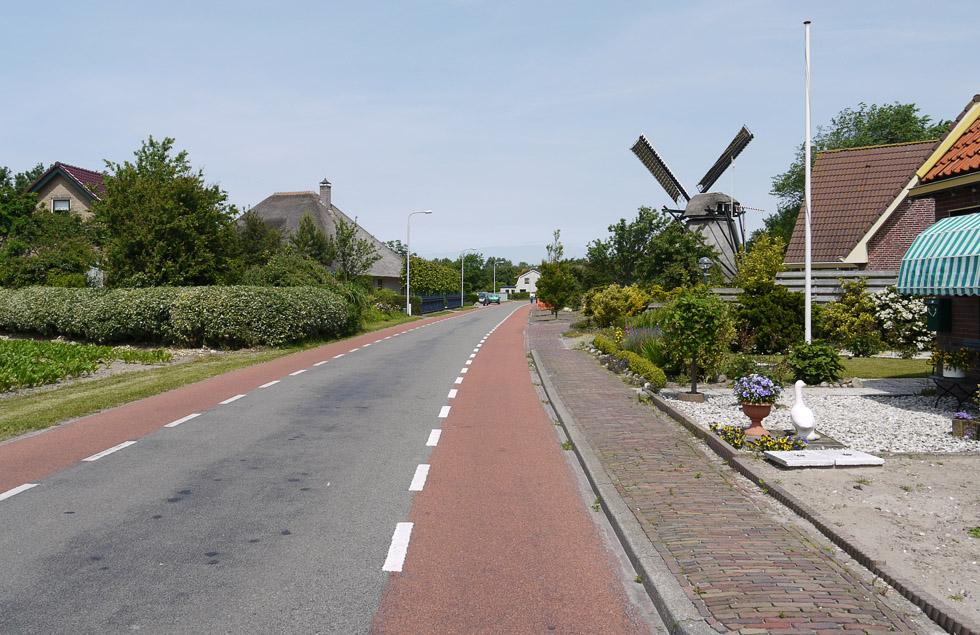 Велосипедные дорожки в деревне.