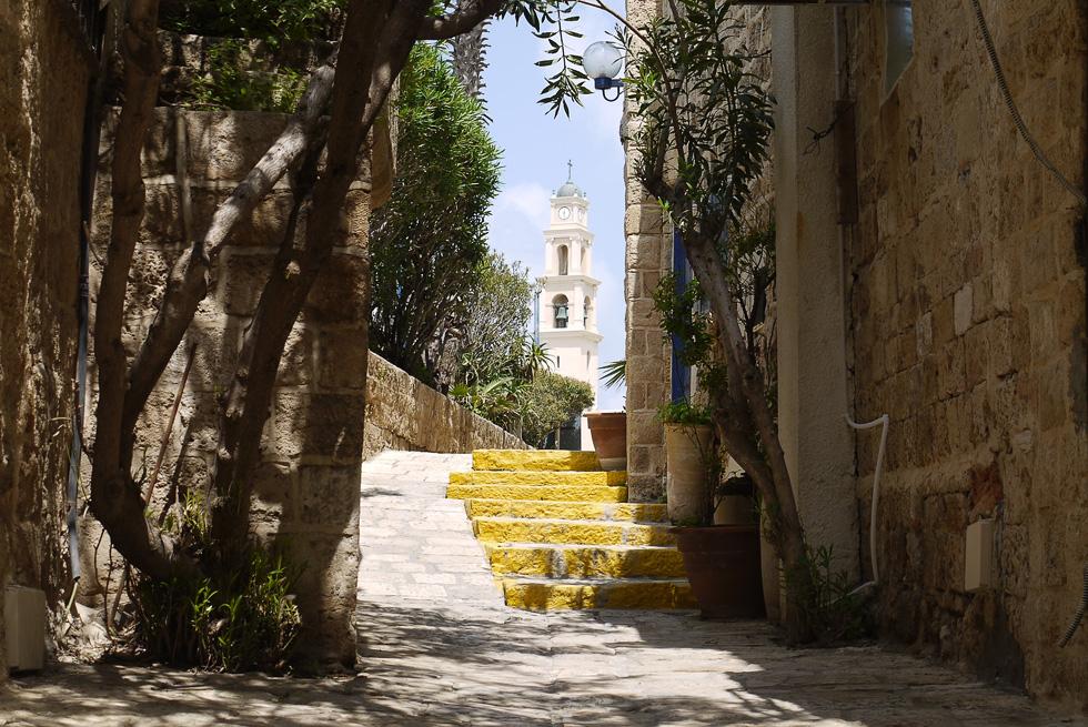 Вид на церковь св. Петра в Яффо