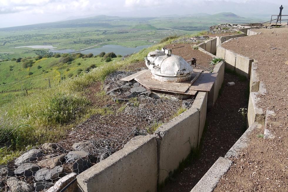 Израильские укрепления на голанских высотах