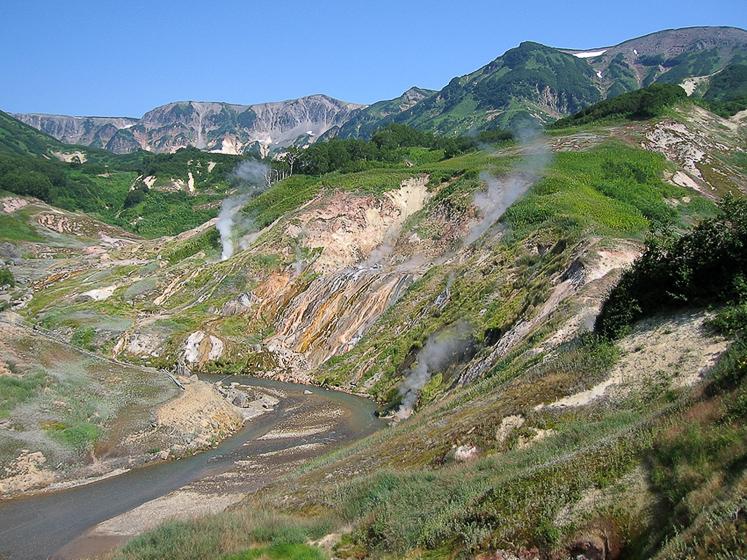 Классический вид долины гейзеров.