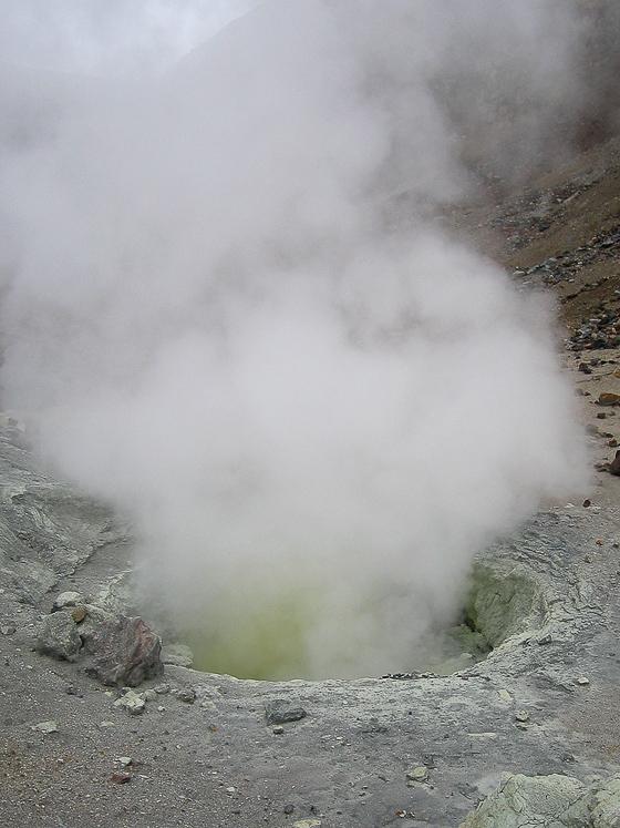 Вулкан Мутновский. Фумарола.