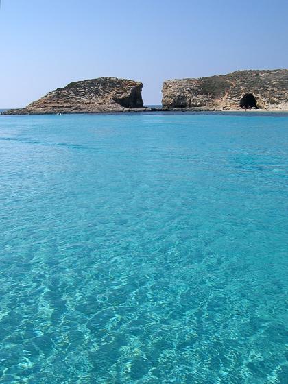 Остров Комино. Голубая лагуна