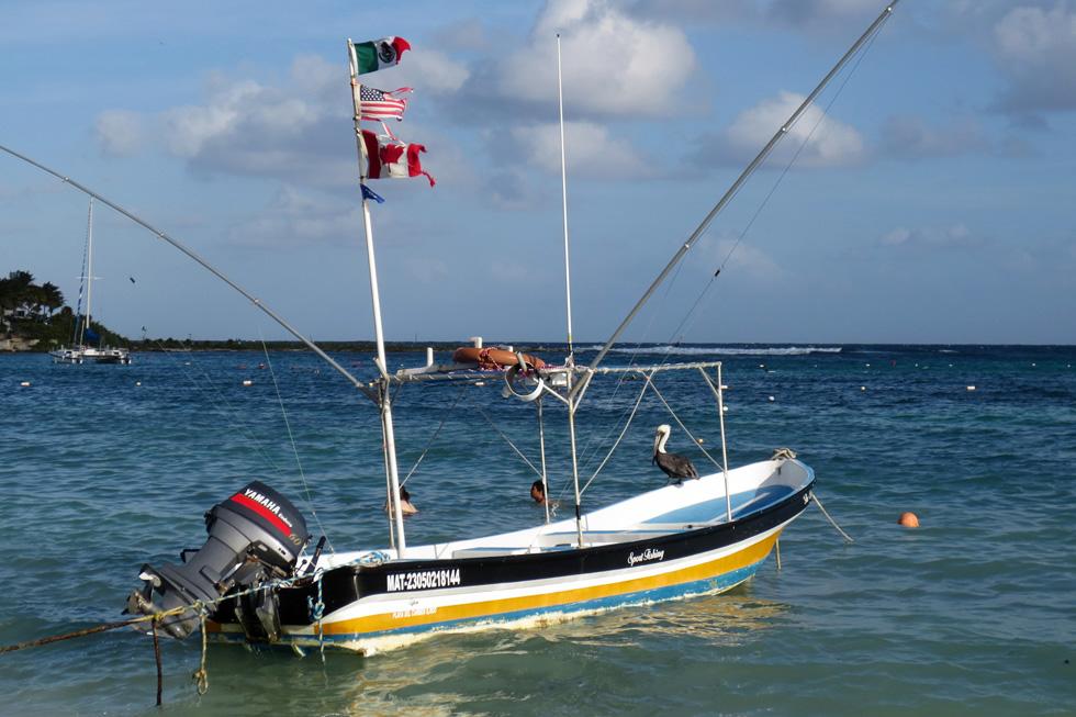 Флаги на лодке