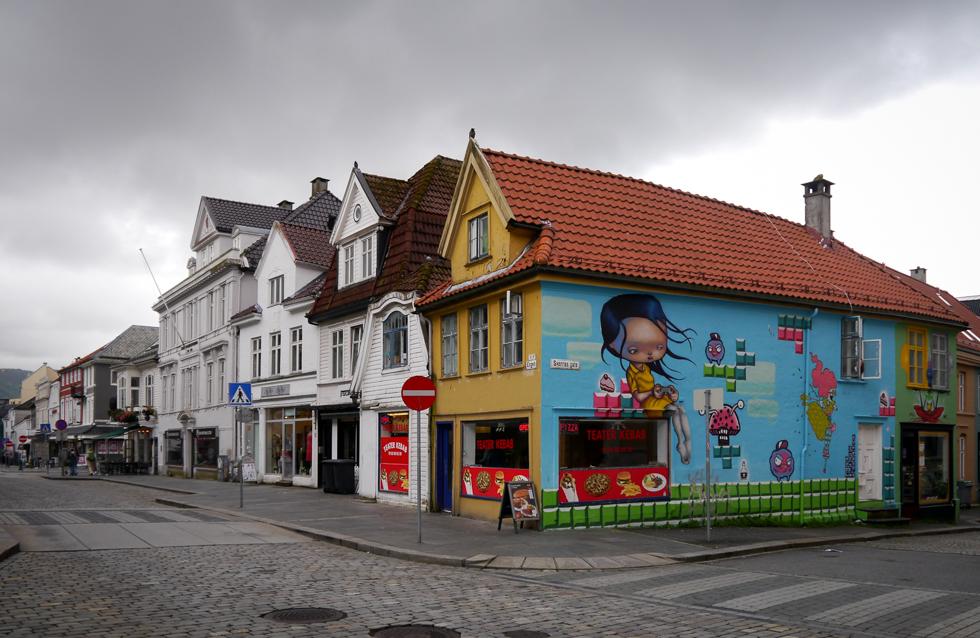 Старые домики Бергена