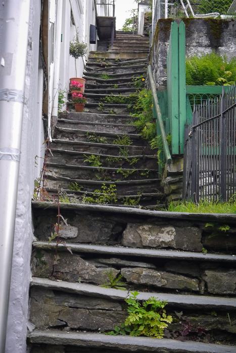 Крутая лестница в Бергене