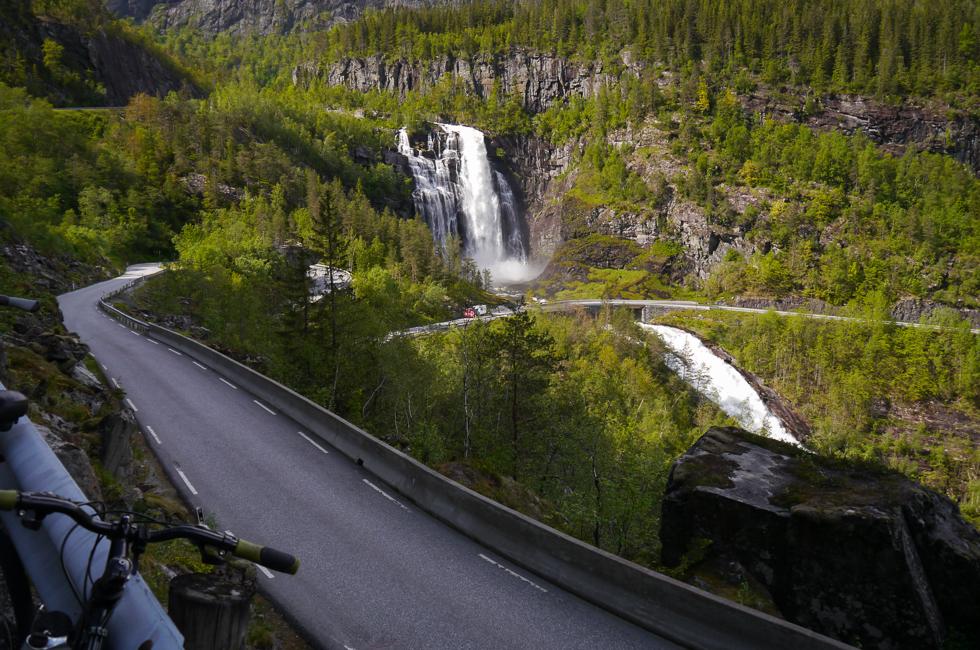 Водопад Skjervefossen