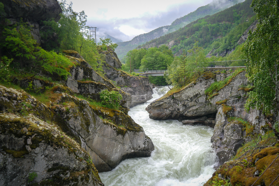 Извилистая река