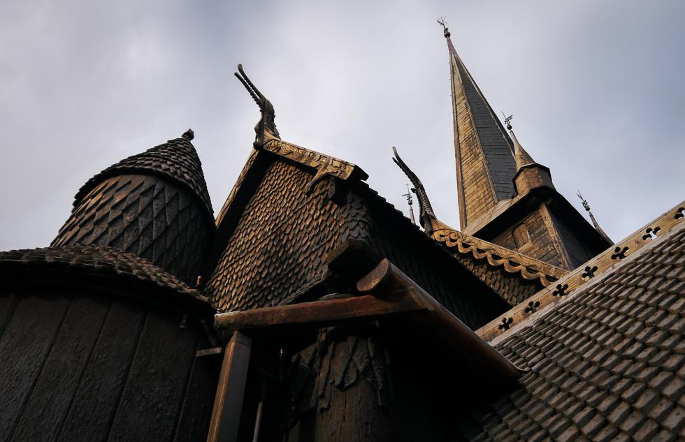 Крупный план норвежской церкви