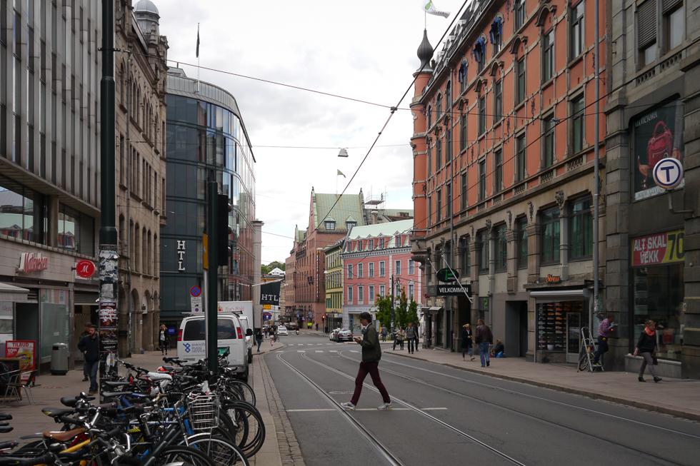Трамвайные пути в старом городе