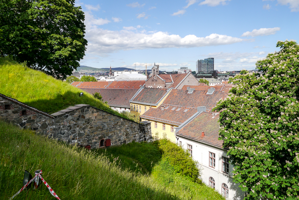 Вид на город со стен