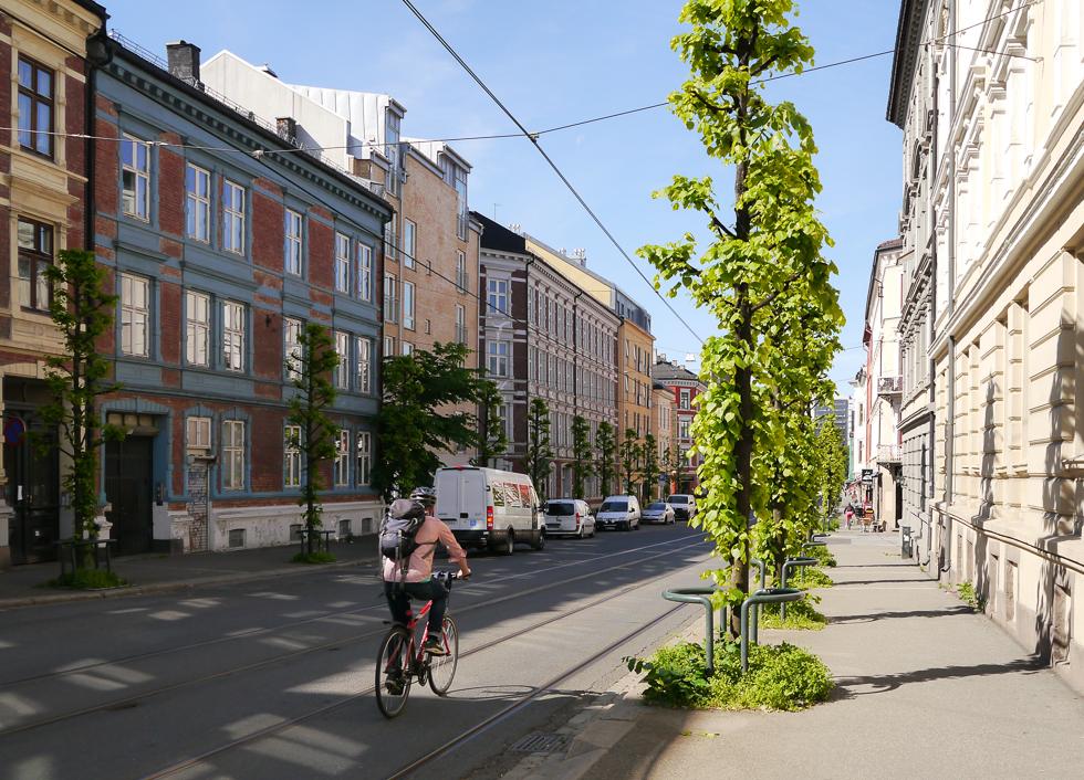 Велосипедист в Осло