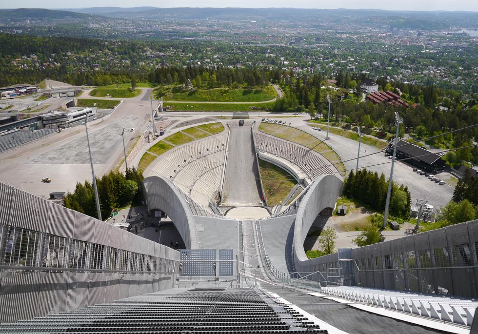 Вид на Осло с горы Хольменколлен