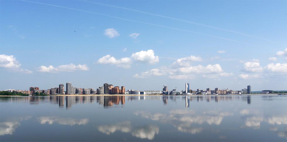 А на другом берегу реки Казанки растёт Новая Казань.