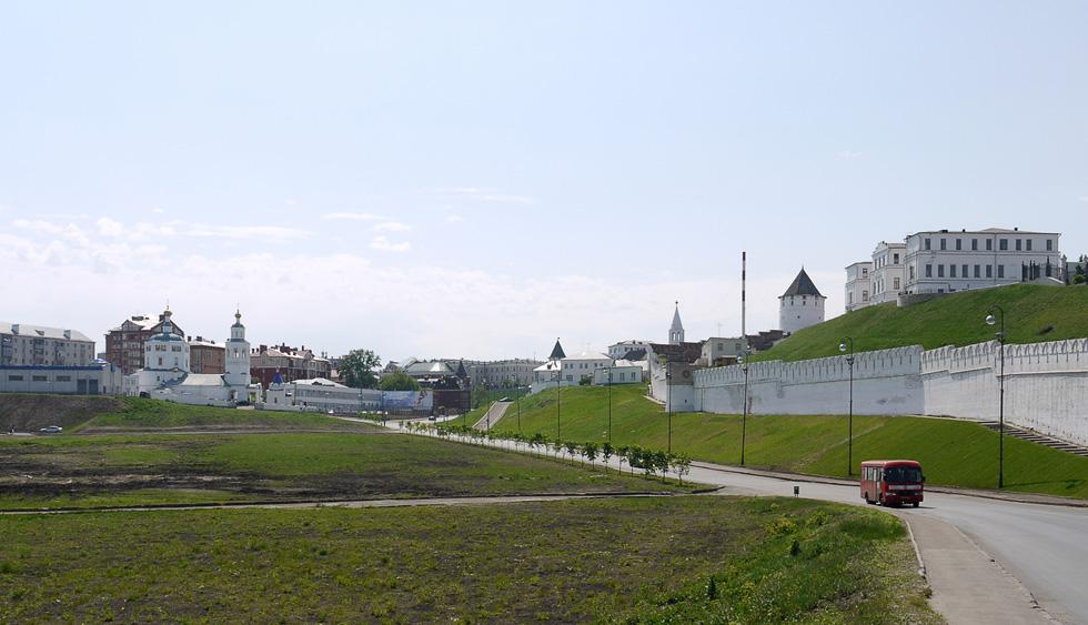 Другая сторона Казанского кремля