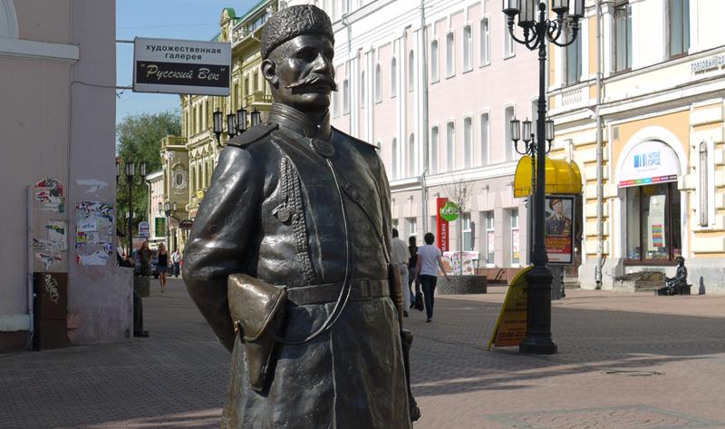 Памятник городовому в Нижнем Новгороде.