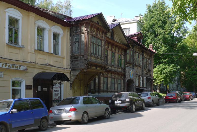 Деревянный дом в Нижнем Новгороде.