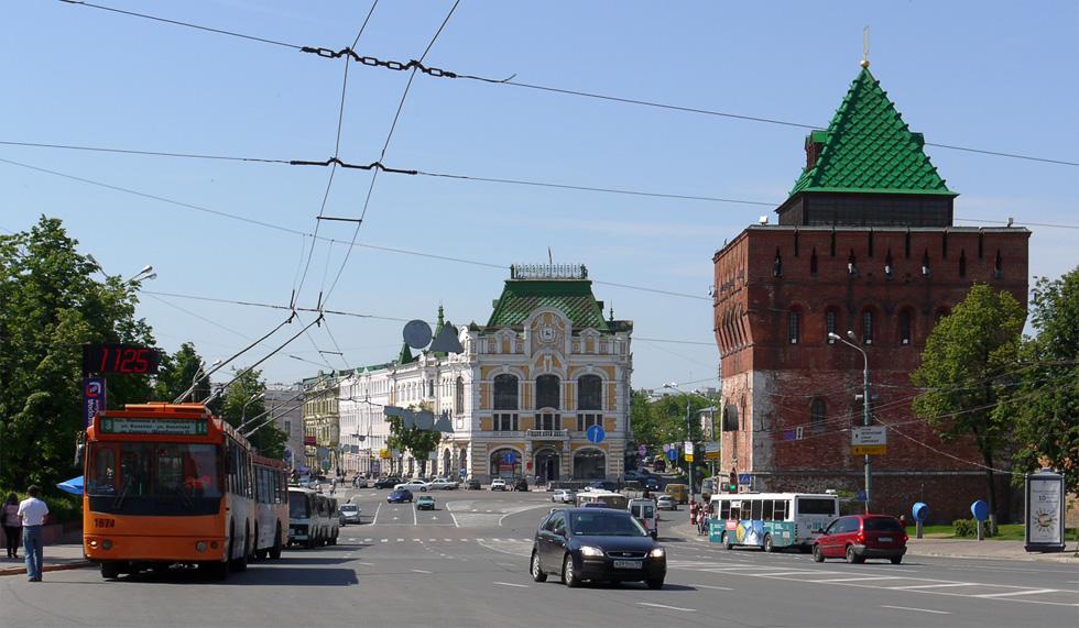 Одна из центральных улиц Нижнего Новгорода