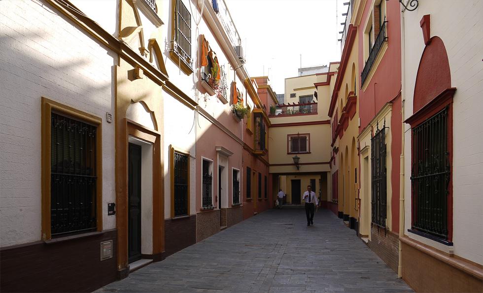 Цветные дома в Севилье