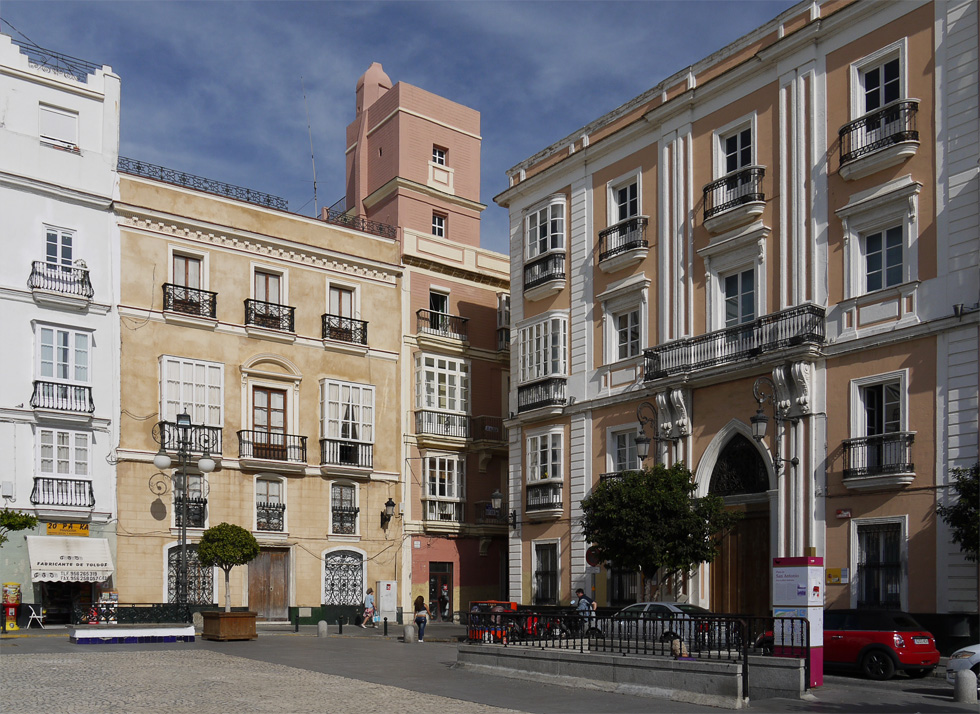 Дома на старой площади Кадиса