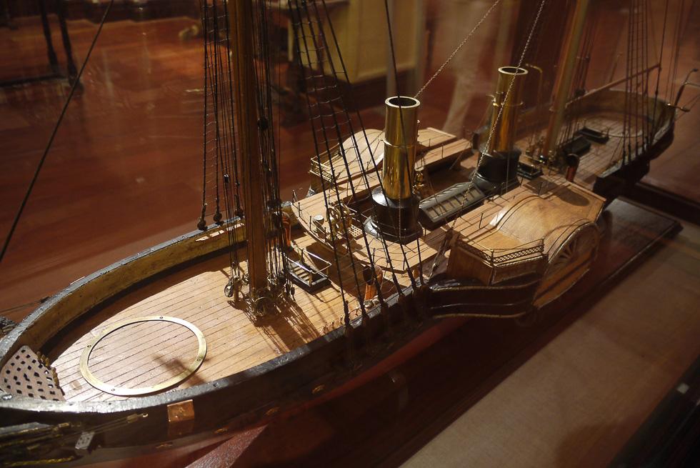 Корабль в музее мореплавания