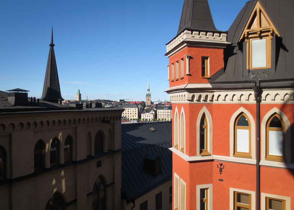 Вид с холма на Старый Стокгольм