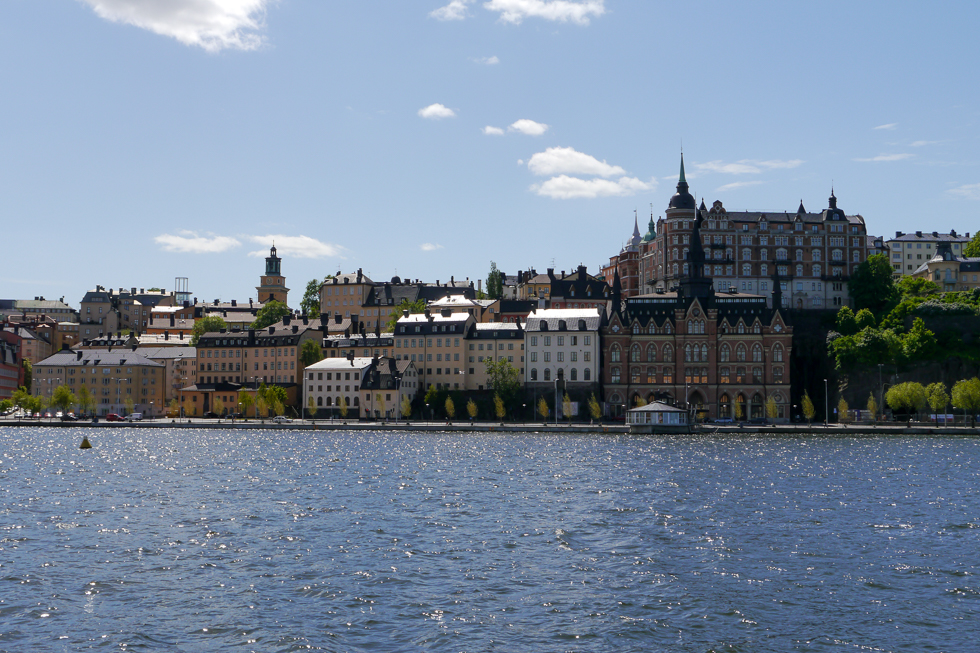 Вид на Södermalm со стрелки Riddarholmen