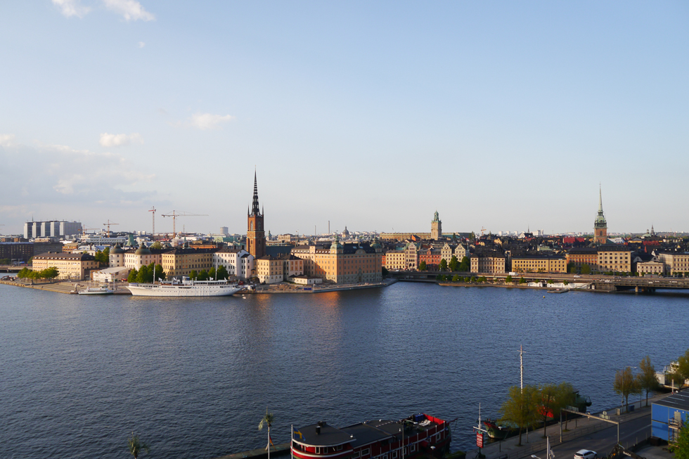 Вид на Старый Стокгольм со смотровой