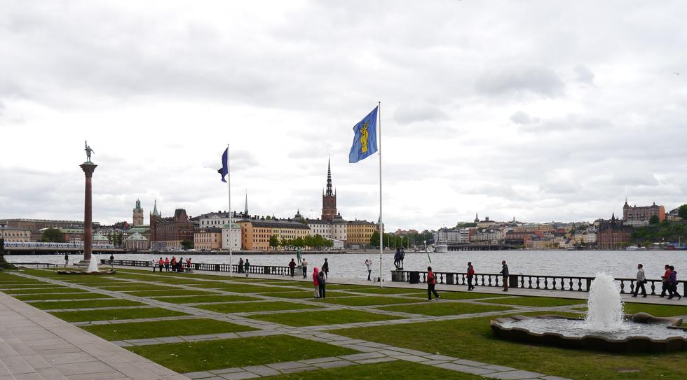 Вид на Риддархольмен со стороны площади перед городской ратушей.