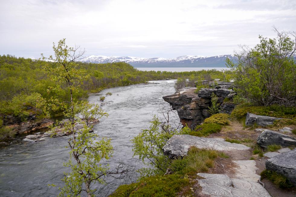 Вид на горы северной Швеции