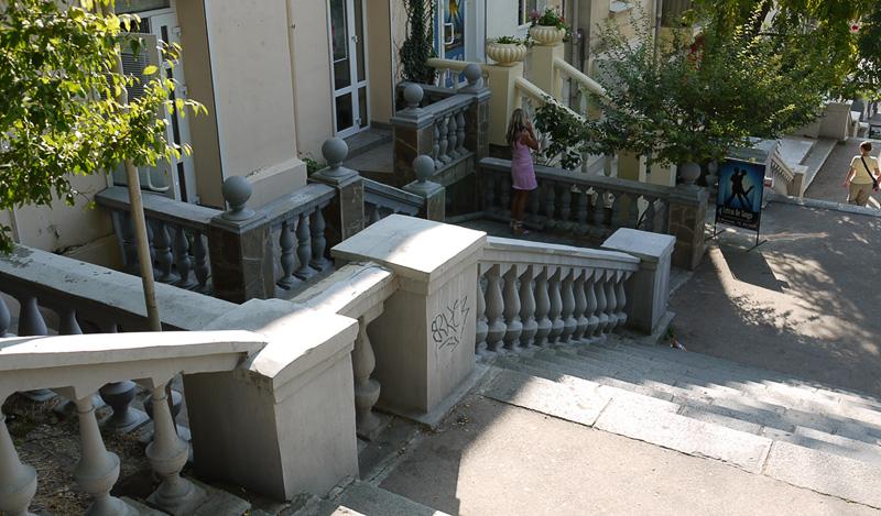 Каменные перила в Севастополе