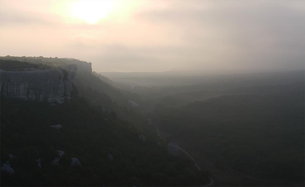 Вид на долину в Эски-Кермен