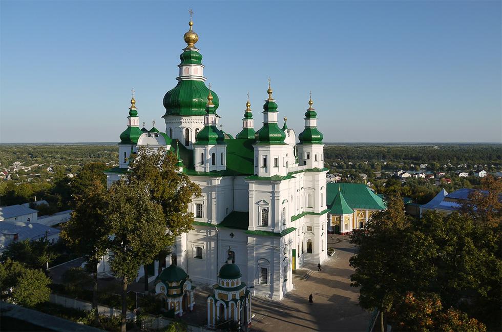 Вид на Елецкий монастырь с колокольни