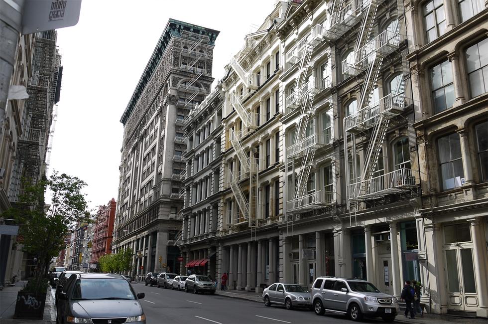 Дома в исторической части Нью-Йорка.