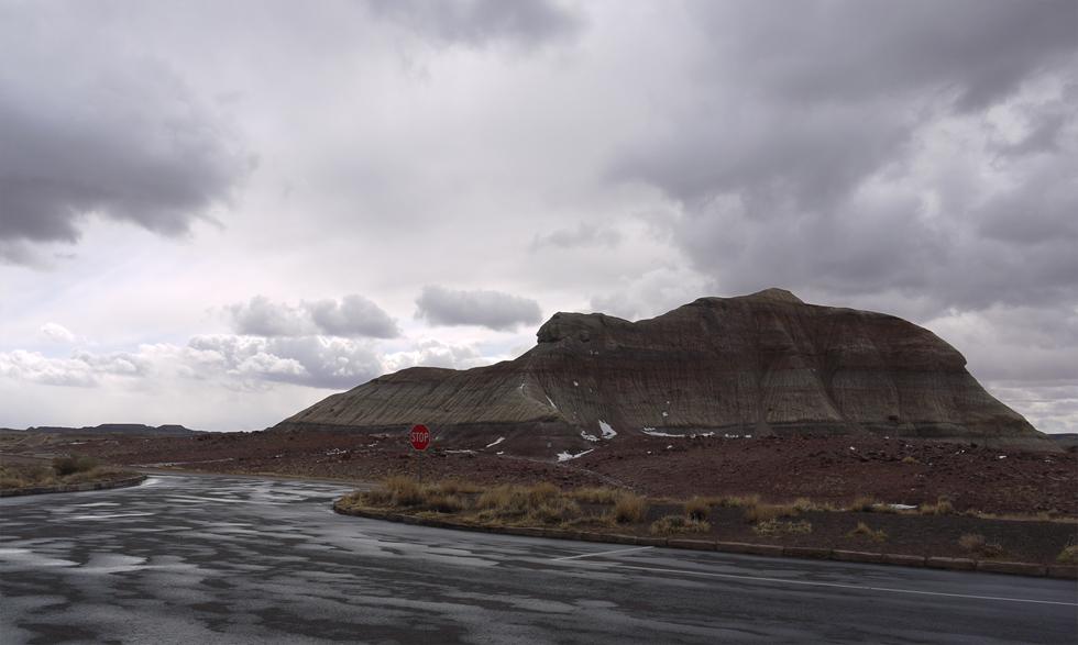 Парковка в национальном парке Окаменелый Лес