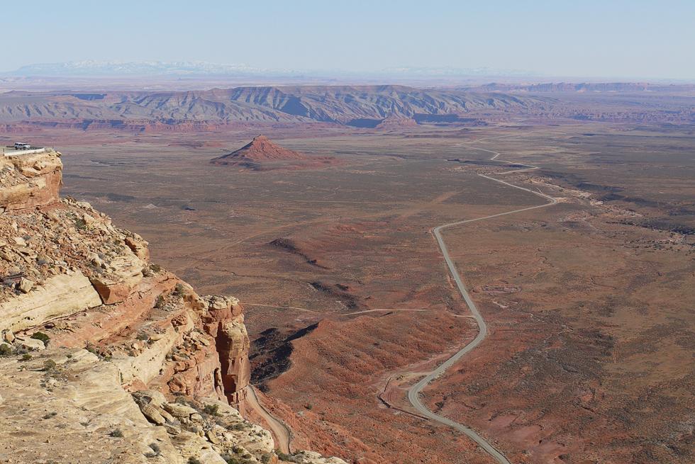 Серпантин по дороге в Monument Valley