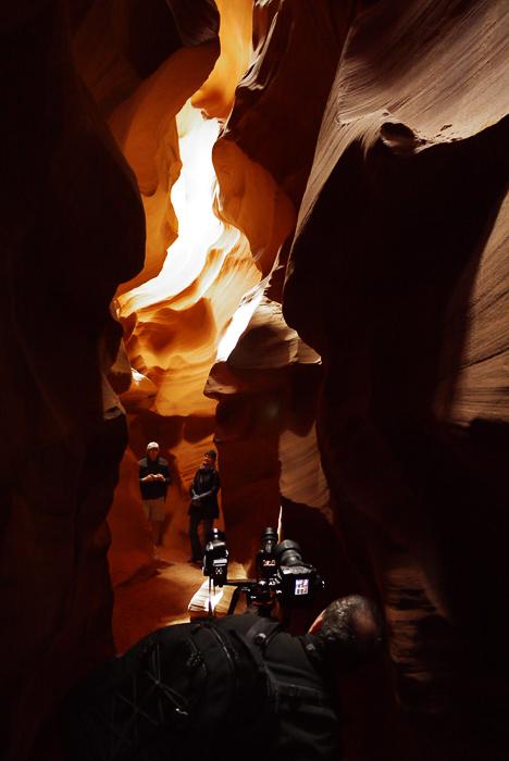 Фотографы в Antelope Canyon