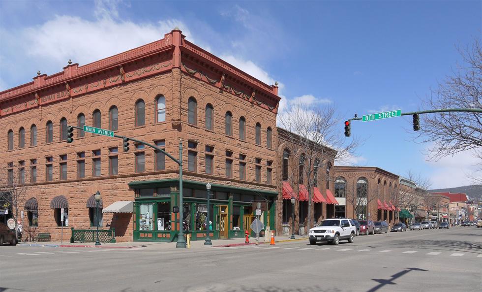 Дуранго, Колорадо. Нересечение Main Avenue и 8th Street
