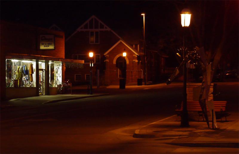 Улица Гленвуд Спрингс ночью