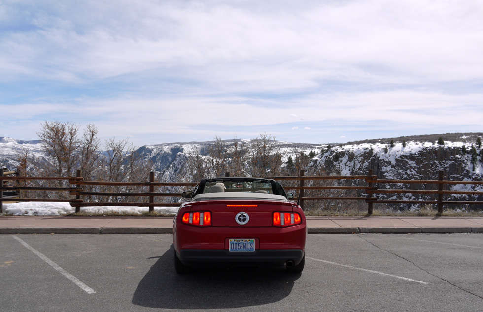 Ford Mustang в Black Canyon of the Gunnison